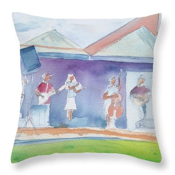 Roots Retreat Bluegrass Throw Pillow