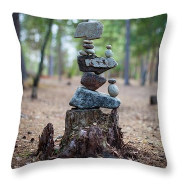 Roots Rock Throw Pillow