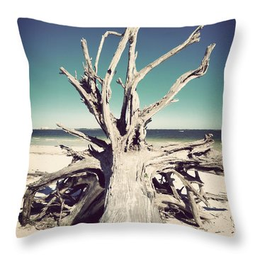 Roots To The Sky-vintage Throw Pillow by Chris Andruskiewicz
