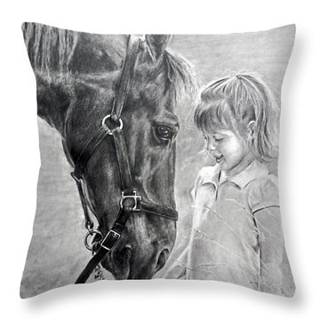 Rooty And Ella Throw Pillow by James Foster