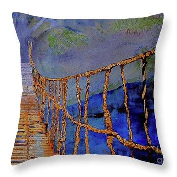 Rope Bridge Throw Pillow