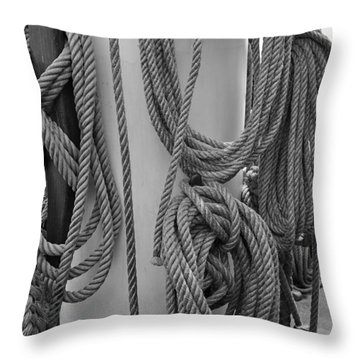 Rope Hung Throw Pillow