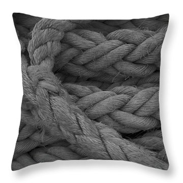 Rope I Throw Pillow by Henri Irizarri