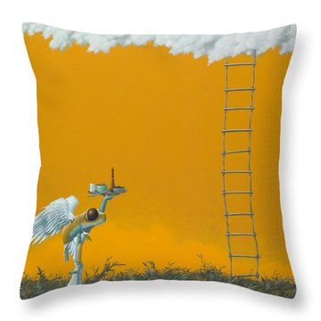 Rope Ladder Throw Pillow by Jasper Oostland