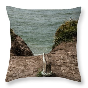 Rope Ladder To The Sea Throw Pillow
