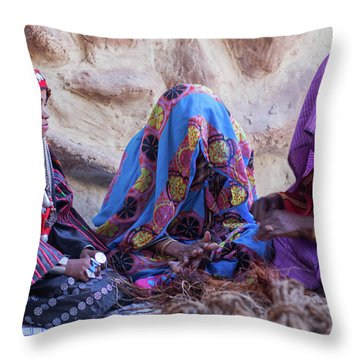 Rope Makers Throw Pillow