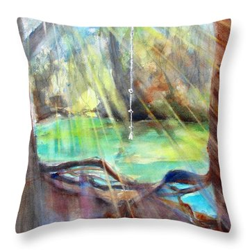 Rope Swing Throw Pillow by Carlin Blahnik