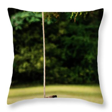 Throw Pillow featuring the photograph Rope Swing  by Shelby Young