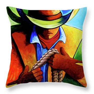 Roper Throw Pillow by Lance Headlee