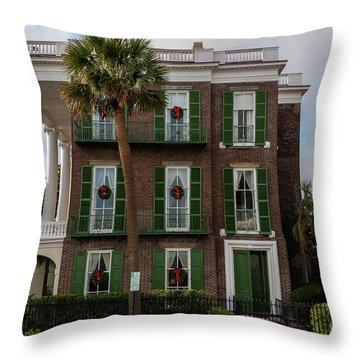 Roper Mansion In December Throw Pillow