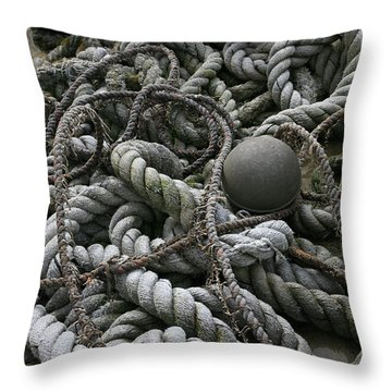 Ropes And Lines Throw Pillow