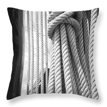 Ropes From The Past Throw Pillow by Bob Decker