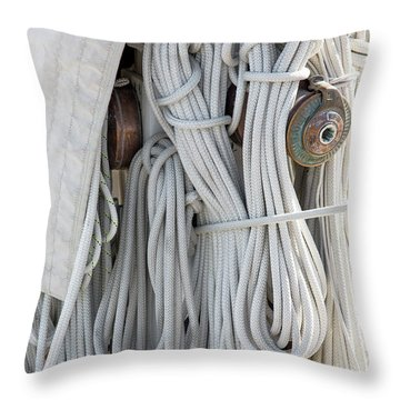 Ropes Of A Sailboat Throw Pillow