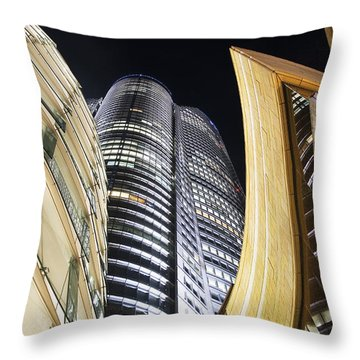 Roppongi Hills Mori Tower Throw Pillow by Bill Brennan - Printscapes