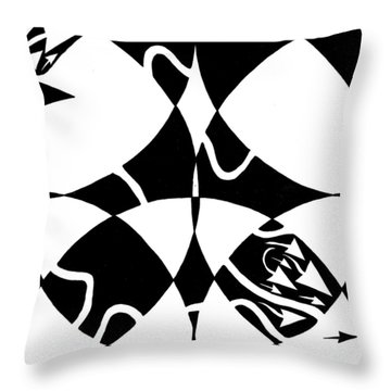 Maze Rorschach Throw Pillows