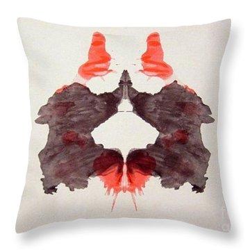 Rorschach Test Card No. 2 Throw Pillow