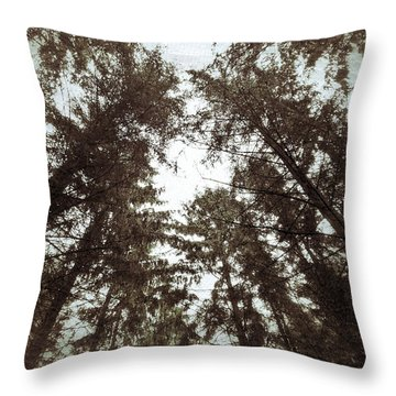 Throw Pillow featuring the photograph Rorschach Trees by Karen Stahlros