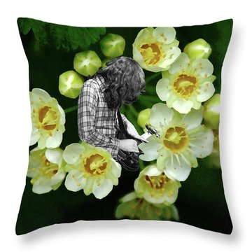 Throw Pillow featuring the photograph Rory Flower by Ben Upham
