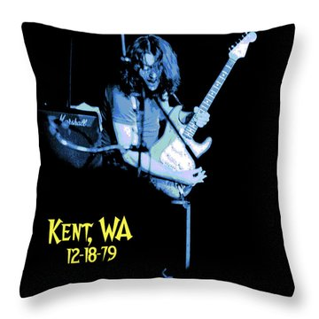 Throw Pillow featuring the photograph Rory Kent Blues by Ben Upham