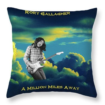 Million Miles Away Throw Pillow