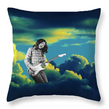 Throw Pillow featuring the photograph Rory Morning Sun by Ben Upham