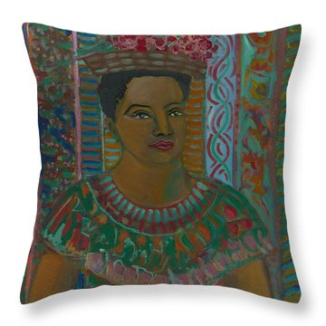 Throw Pillow featuring the painting Rosa by John Keaton