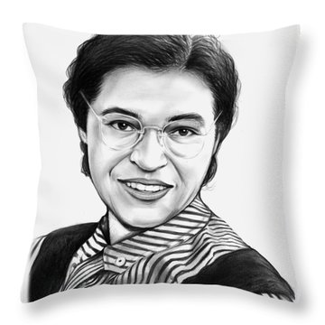 Rosa Parks Throw Pillow