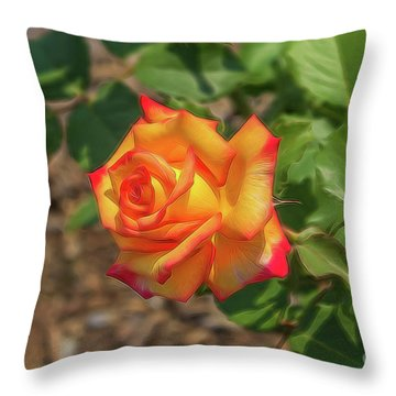 Rosa Peace Throw Pillow by Jim Lepard