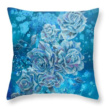 Rosa Stellarum Throw Pillow