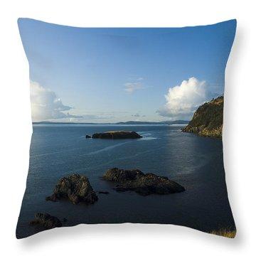 Rosario Strait Near Anacortes Throw Pillow