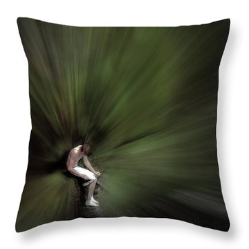 Throw Pillow featuring the photograph Roscoe by Wayne King