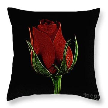 Rose 123 Throw Pillow