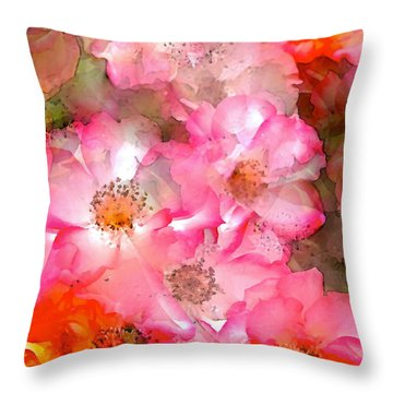 Rose 140 Throw Pillow