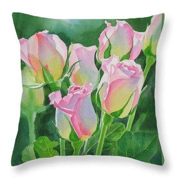 Rose Array Throw Pillow