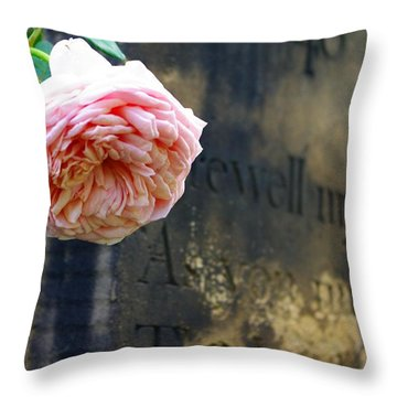 Rose At The Grave Throw Pillow