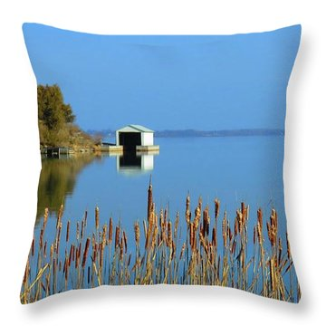 Rose Bay Throw Pillow