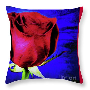 Rose - Beauty And Love  Throw Pillow