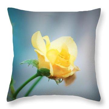 Rose Bling Throw Pillow
