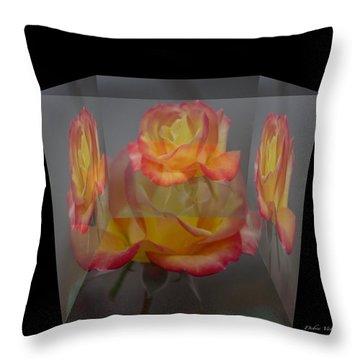 Rose Block Throw Pillow