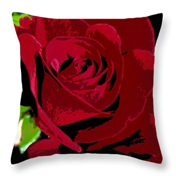 Rose Bloom Throw Pillow by Matthew Bamberg