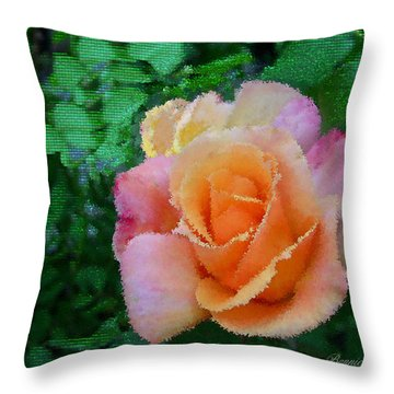 Throw Pillow featuring the photograph Rose by Bonnie Willis