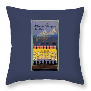 Rose Bowl Chicago Matches Throw Pillow