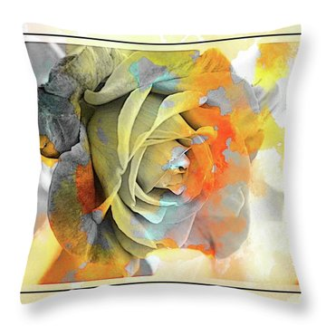 Throw Pillow featuring the photograph Rose Bud by Athala Carole Bruckner
