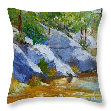 Rose Canyon Lake Throw Pillow by Susan Woodward