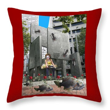 Rose City Throw Pillow by Keith Dillon