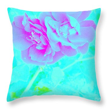 Throw Pillow featuring the photograph Rose Colored Dream by Greg Moores