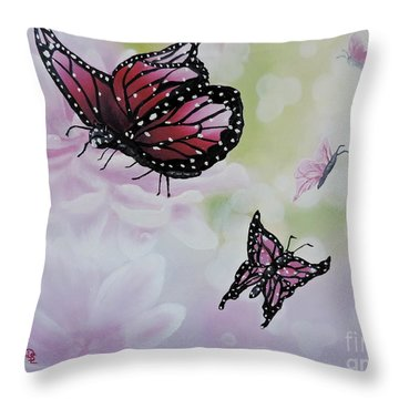 Rose Colored Glasses Throw Pillow by Dianna Lewis
