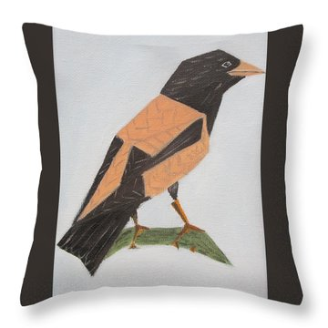 Rose-coloured Starling Throw Pillow