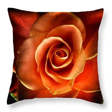 Throw Pillow featuring the photograph Rose by Donald Paczynski