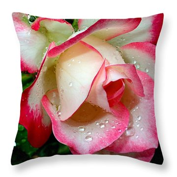 Rose Drops Throw Pillow